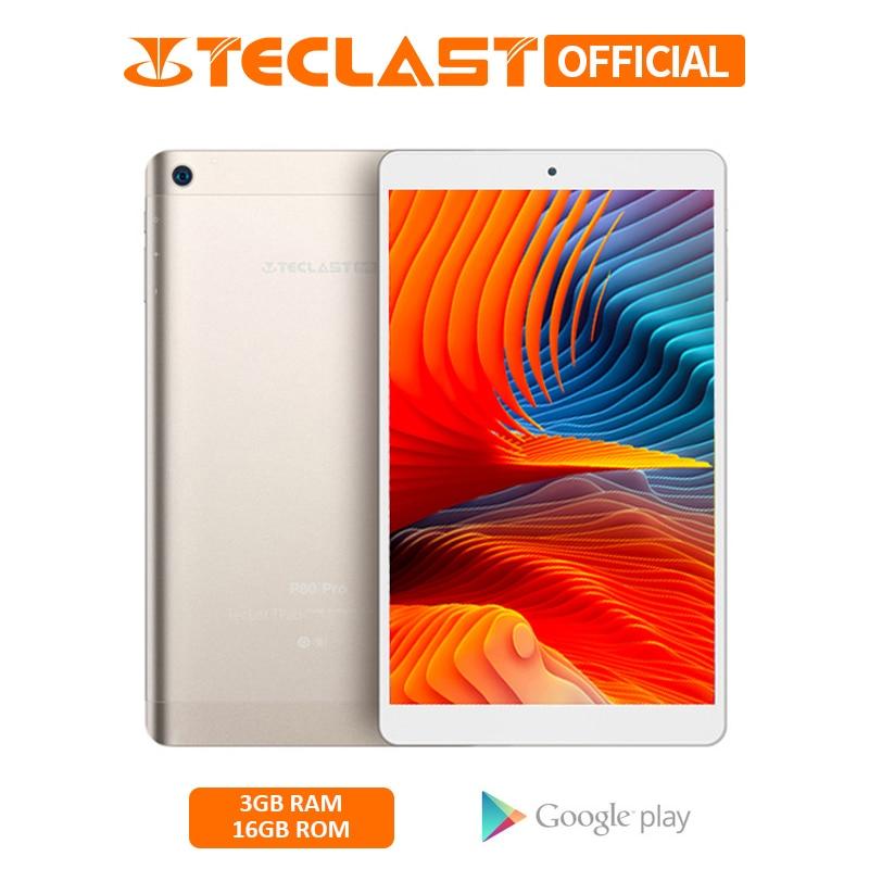 8.0 Inch 1280*800 Teclast P80 Pro Tablet Android 7.0 MTK8163 Quad Core 3GB RAM 16GB ROM Dual WiFi Tablets PC