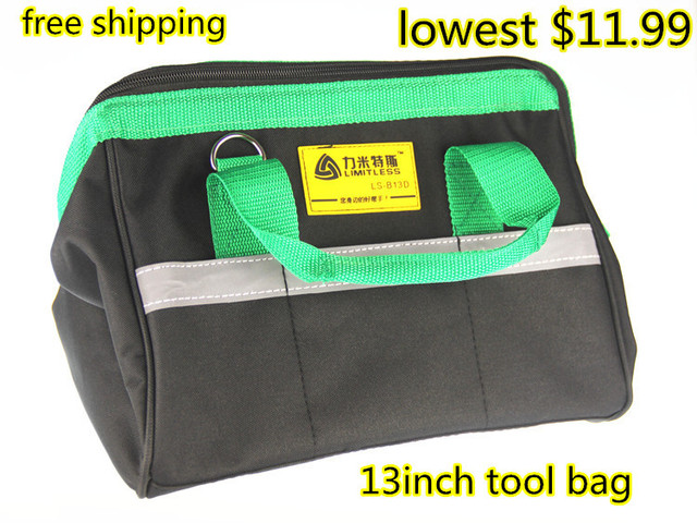 Multifunction Sears Tool Case 600 D Polyester Material 13 Bag Electrician Canvas