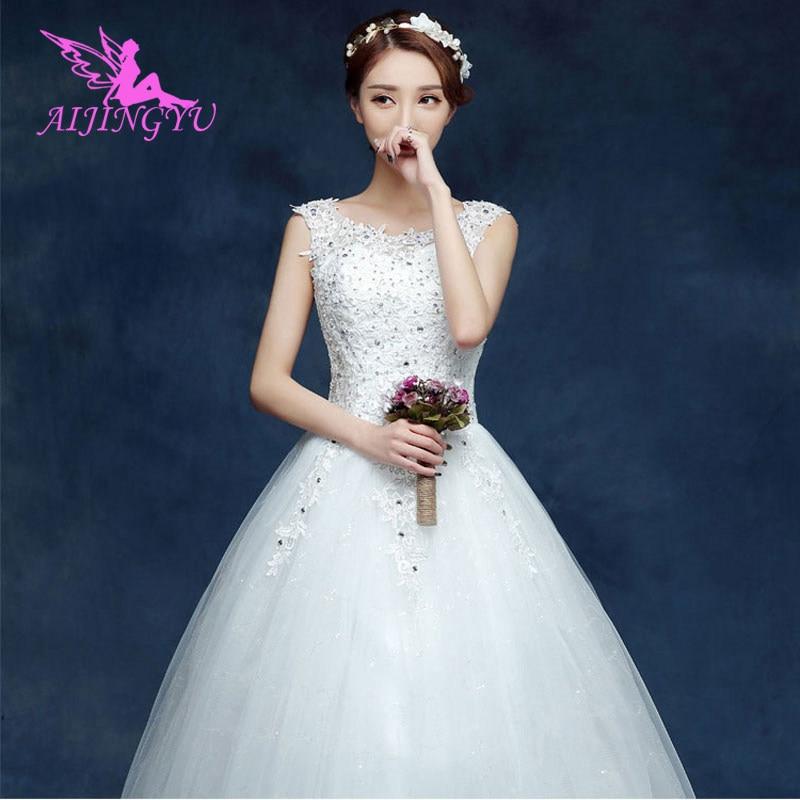 AIJINGYU 2018 Communion Free Shipping New Hot Selling Cheap Ball Gown Lace Up Back Formal Bride Dresses Wedding Dress WU191