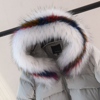 winter faux fur shawl fox fur collar coat fake raccoon fur collar hat decor jacket coat hood fur decoration multi color women