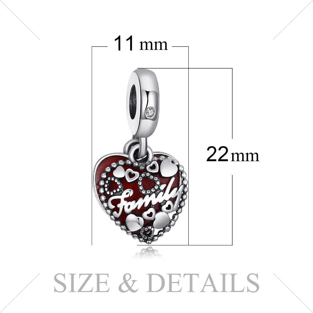 Jewelrypalace family925 prata esterlina grânulos encantos prata 925 original para pulseira de prata 925 grânulos originais jóias fazendo