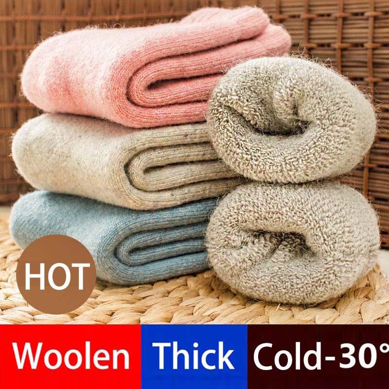 Real Woolen Thick Girl Socks 0-7 Years Winter Soft Warm Children Socks Thermal Floor Kids Socks WZ03
