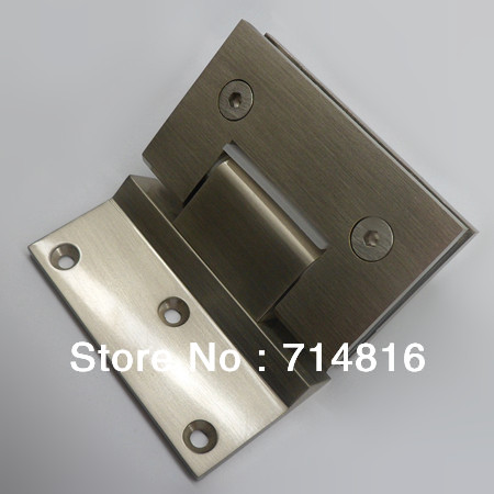 45 Degree Wall To Glass Fixing Spring Shower Hinge Satin