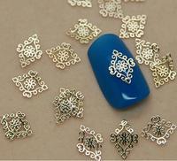 10 stücke Nagel schmuck trend nagel super beliebte 18 K metall nagel dünne metall nagel patch naill aufkleber 10 stücke /pag