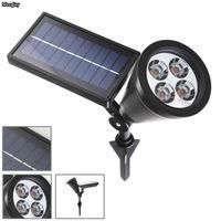 Nieuwe Collectie LED Solar Light Outdoor 4 LEDs Zonne-energie Spotlight Tuin Gazon Lamp Landschap Spot Lights Sensor lichten