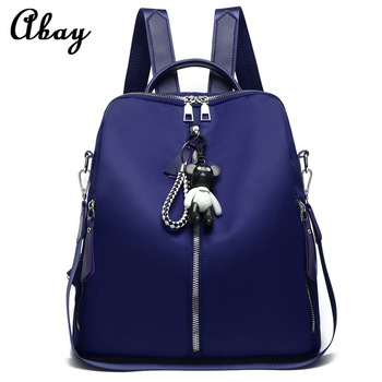 2019 fashion new blue college backpack casual nylon cloth bag female female student bag large capacity travel backpack new unisex oxford cloth backpack casual travel student backpack tote shoulder bag large capacity computer bag xz 205
