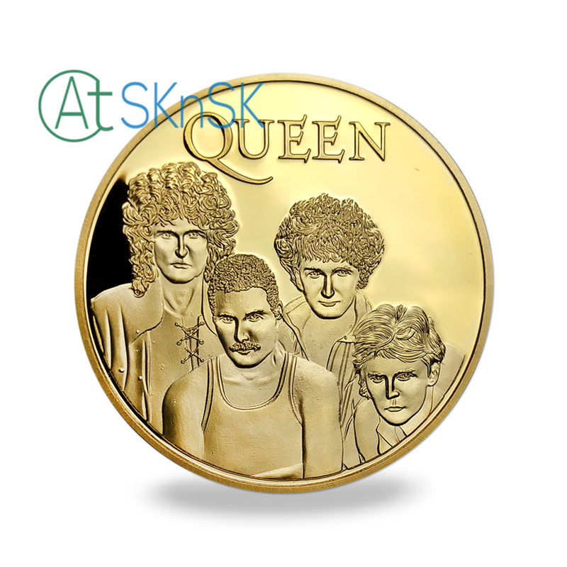 10pcs / lot, Brezplačna dostava Famous Band - Queen Gold Plated - Dekor za dom - Fotografija 2