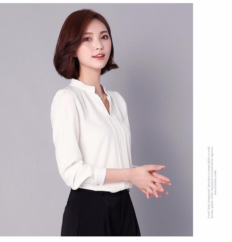 HTB1o.GiLpXXXXXyXXXXq6xXFXXX6 - Long Sleeve Elegant Ladies Office Shirts Fashion Casual Slim Women
