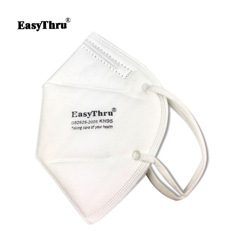 Face Mouth Ventilation Breathing Non-toxic Dust Vertical Respirator Nasal Easythru Medical Mask Filter Folding 5pcs