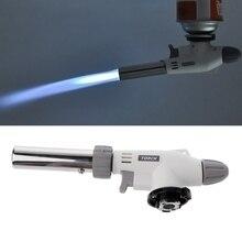 Металлический газовый фонарь с пламенем, выдувной фонарь, для приготовления пищи, автозажигание, Бутан, газовая Сварочная горелка, нагрев, Сварочная газовая горелка, зажигалка с пламенем