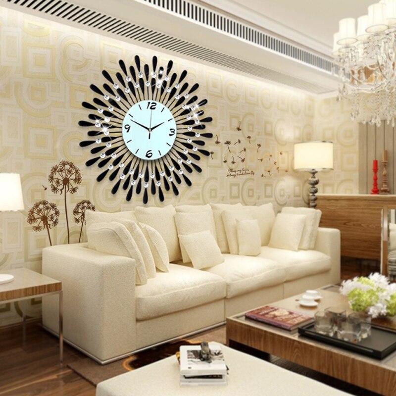 Living Room Wall Clocks popular rhinestone wall clock-buy cheap rhinestone wall clock lots
