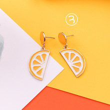 2018 Summer Simple Korean Earrings Girl Cute Yellow Orange Personality Fairy Drop Earrings for Fashion Women Accessories Jewelry