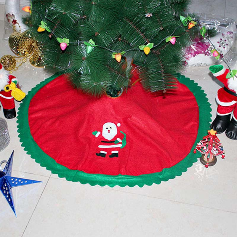 Rooted Christmas Tree: New Year's Day Xmas Decoration 90 Cm Tree Skirt Decorated