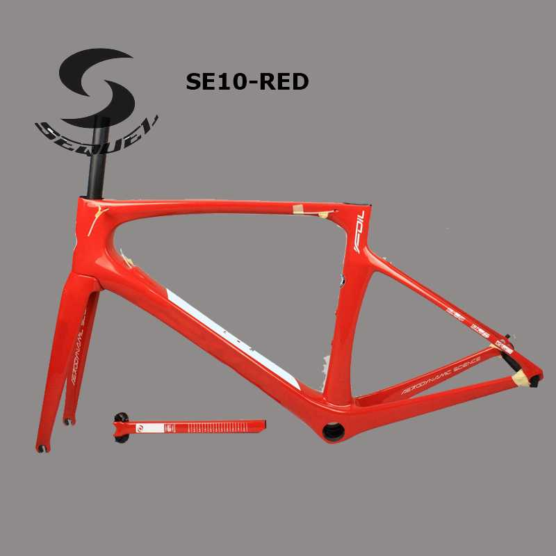 6 colors cadre carbone route 2017 red SEQUEL Brand carbon bicycle road,2 years warranty carbon frame bike parts made in China