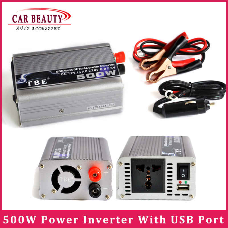 DC 12V To AC 220V 500W Adapter Car Auto Power Inverter Converter Adaptor Notebook Laptop With USB Port