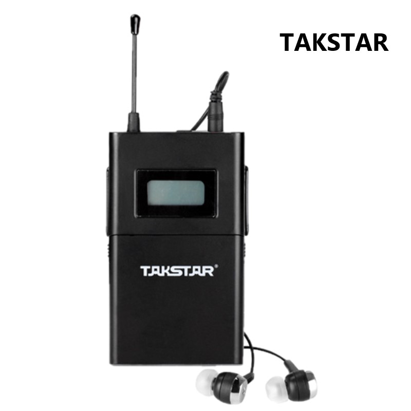 Takstar wpm 200 In Ear Wireless stage monitoring Receiver with Earphone only Receiver earphone Not Include