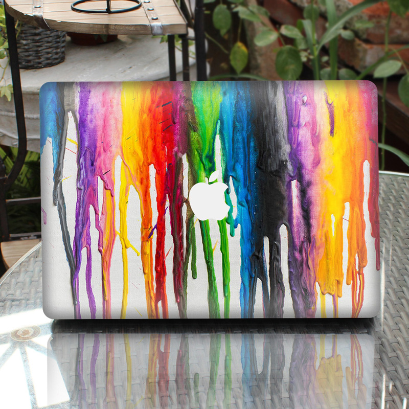 US $6 47 46% OFF|Colorful Oil Painting Laptop Decal Sticker Skin For  MacBook Air Pro Retina 11