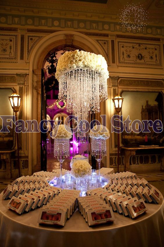 100cm Tall Crystal Table Centerpieces Flower Stand 5 tier Table Chandelier Wedding Decoration