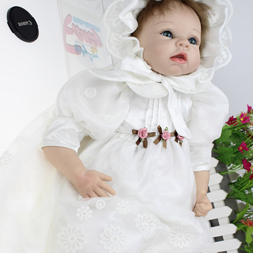 Hot Silicone Reborn Babies Dolls Play House American Girl Princess Lifelike Reborn Baby Brinquedos Baby Doll Reborn Toys hot sale silicone reborn babies dolls gift for child kid classic play house toy girl brinquedos baby reborn doll toys