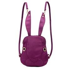Solide couleur sac 2016 nouveau mignon super Lapin sac à dos enfants filles nylon petite école sac femmes sacs à dos Sacs à Bandoulière mochilas