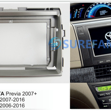 9 дюймов Автомобильная панель радио для Toyota Previa 2007+; Tarago 2007-; Estima 2006- Dash комплект Переходная рамка адаптер пластина отделка