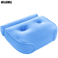 2017 Bathtub Cushions Pillow 3D Tub With Sucker Anti Skid Bathing Cushions Bath Pillows Non Slip Type Bathroom Products