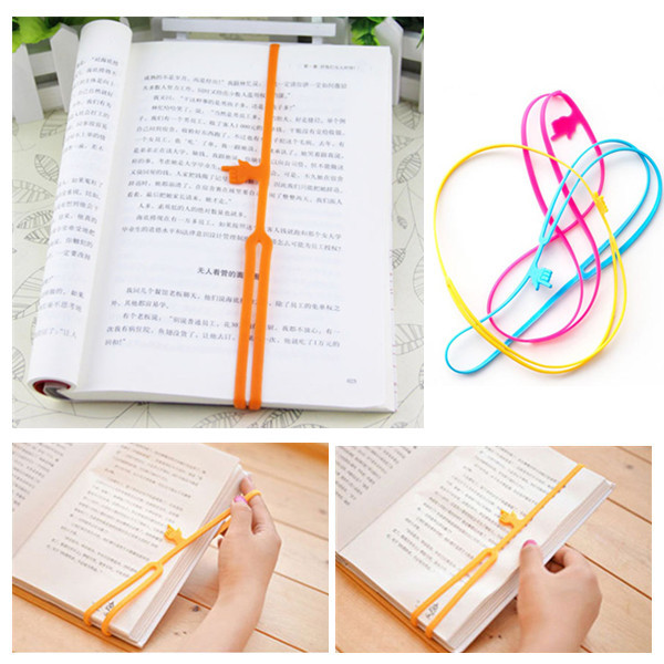 купить PY011 Silicone Bookmarks Elasticity Bookends Book Clip Organizer Reader Tool office Items Stuff Accessories Supplies Products