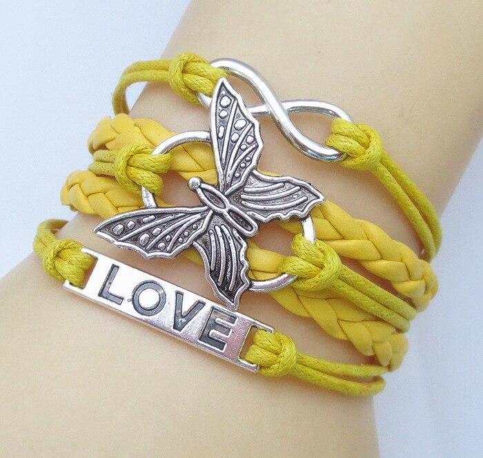 Jewelry Fashion Vintage Butterfly Leather Cute Infinity Love Charm Bracelet U Pick NEW DIY