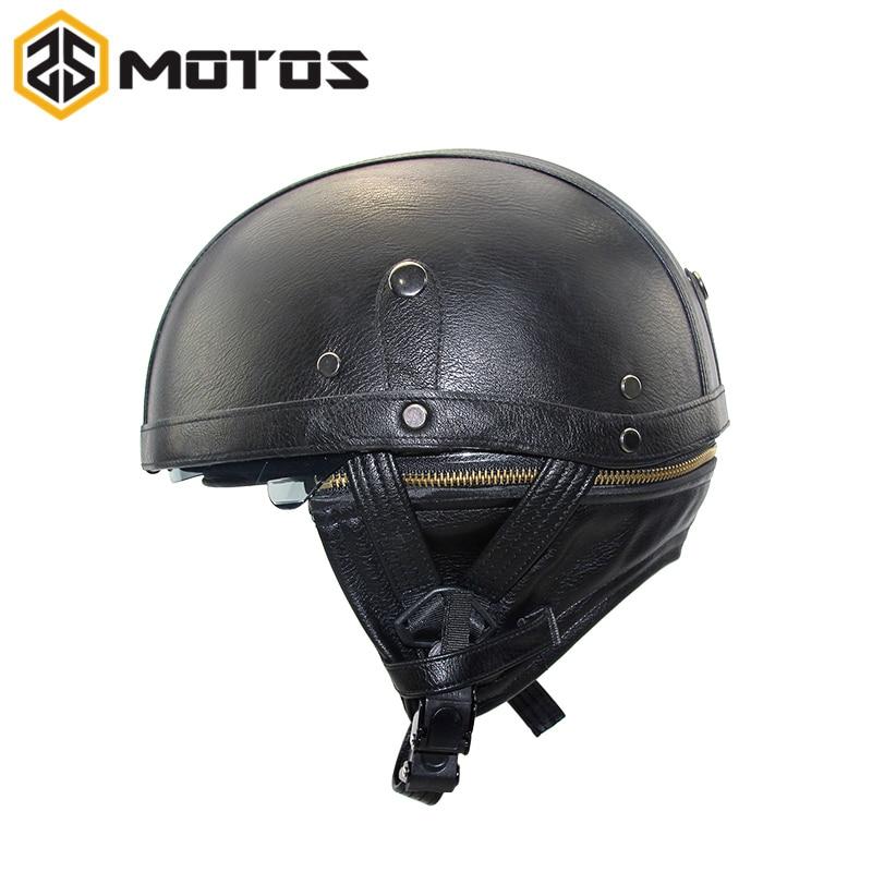 ZS MOTOS Brand Vintage Helmet Retro Motorcycle Helmet Chopper Bikes For Harley Vespa Open Face Half Helmet