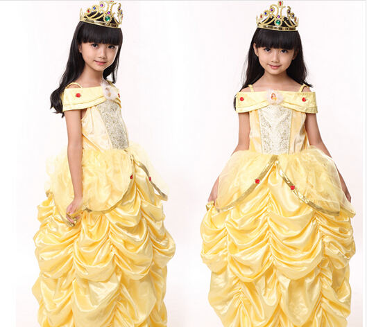 e9d4d8c0c Beauty and the Beast princess belle Halloween Costumes kid child ...