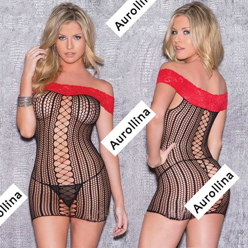 Neuheiten Und Spezialanwendung Exotische Kleidung Dessous Body Babydoll Sexy Kostüme Sheer Body Catsuit Minirock Kleid Sex Uniform Perspektive Kleidung Spitze Body