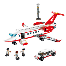 Gudi City Airplane Aircraft model Building Blocks Sets Plane Air Bus Bricks Action Figures Creator  Toys for Children b0366 b0365 abs 43 28cm airplane aircraft building blocks airbus city bus w 7 dolls model toys for children kids training gift