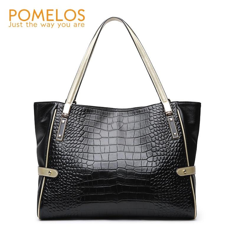 POMELOS Women Handbag Genuine Leather Shoulder Bag 2019 New Arrival Luxury Handbags Women Bags Designer Fashion