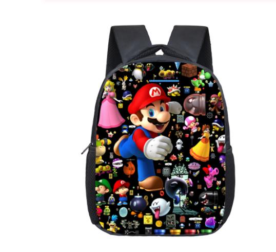 12inch New Super Mario Smash Bros Children School Bags For Boys Girls Satchel Kids Kindergarten Book Bag