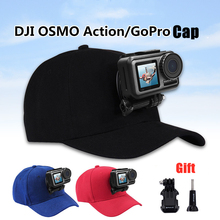 Adjustable Canvas Sun Hat Cap for Gopro Hero 5 4 3 SJCAM SJ7000 SJ6000 M20 Eken H9 H9R H8 Pro Yi 4K SOOCOO Sport Action Camera soocoo sports action camera accessories kit for soocoo camera gopro hero sjcam xiaomi yi eken chest clamp hand mount large bag