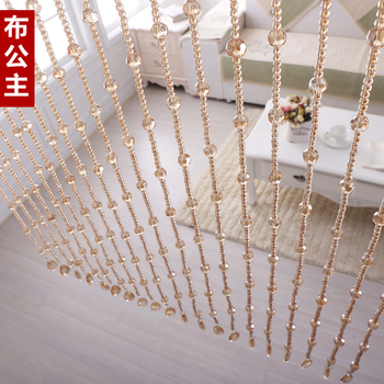 SpringQuan 2016 New 10 meter/lot crystal glass bead curtain can be customized decoration Windows porch partition door curtain