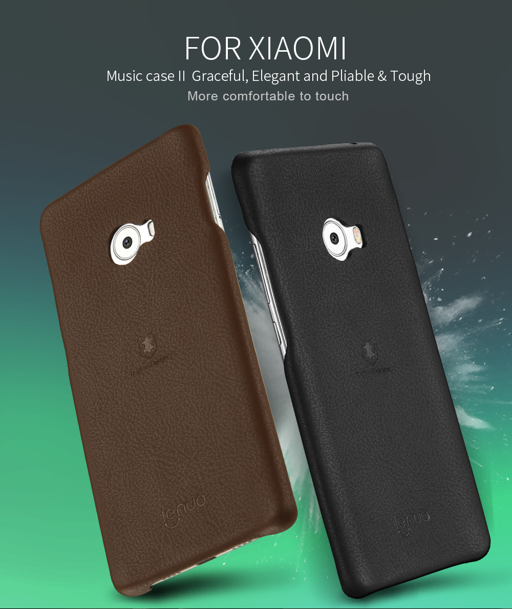 FiveMax Store Original Lenuo Music II Elegant Pliable Tough PU Soft Case For Xiaomi Note 2 Phone Case For Xiaomi Note 2 Case