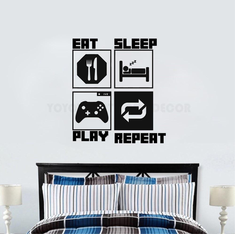 bricolaje decoracion para el hogar eat sleep game repeat gaming