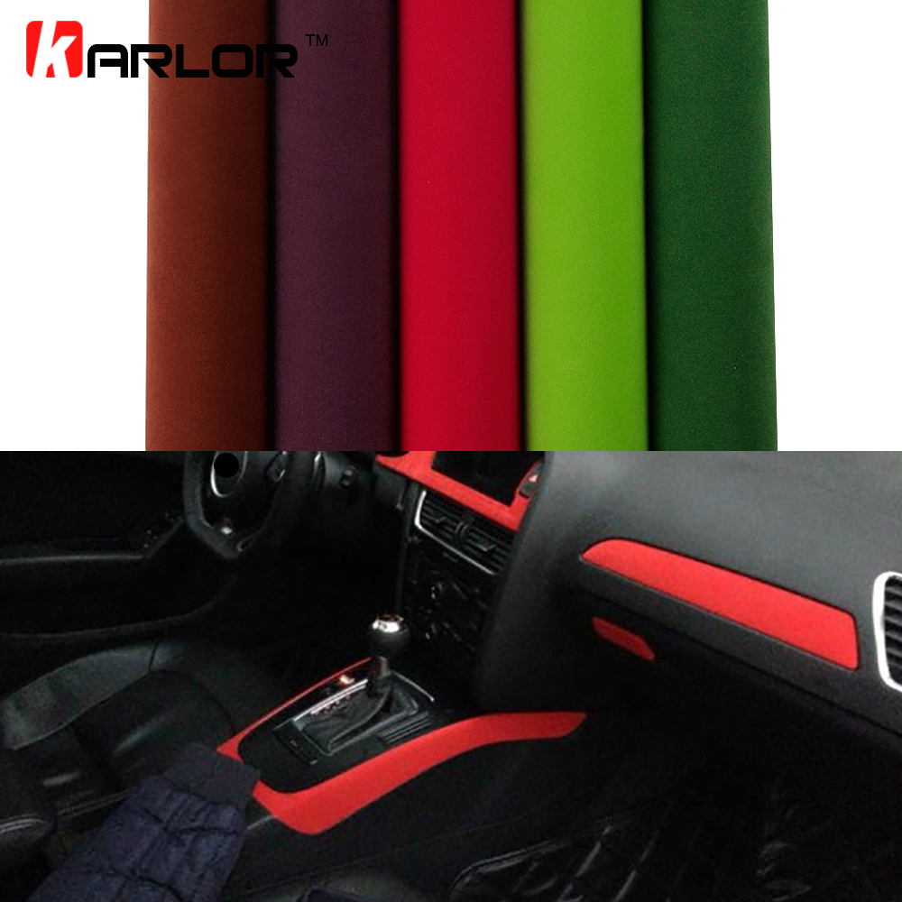 все цены на 30*100cm Velvet Fabric Film Suede Vinyl Wrap Film Car Stickers Adhesive Automobiles Car Decoration Decal Car Styling Accessories