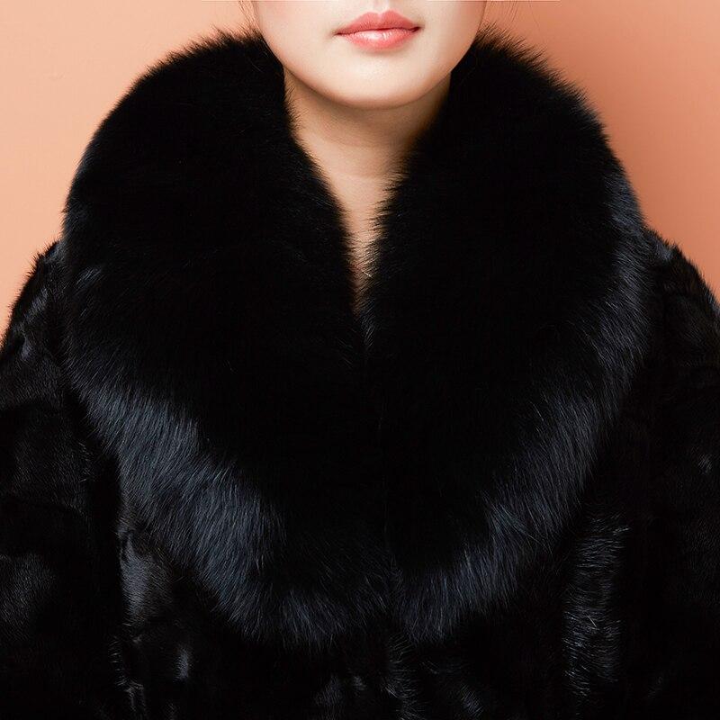 Luxe De Femme Manteau Réel Naturelle Col 4xl Veste Plus As Vison Fourrure Femmes M Hiver Manteaux Chaud Show Taille 2019 Renard Pardessus pFqwC4p