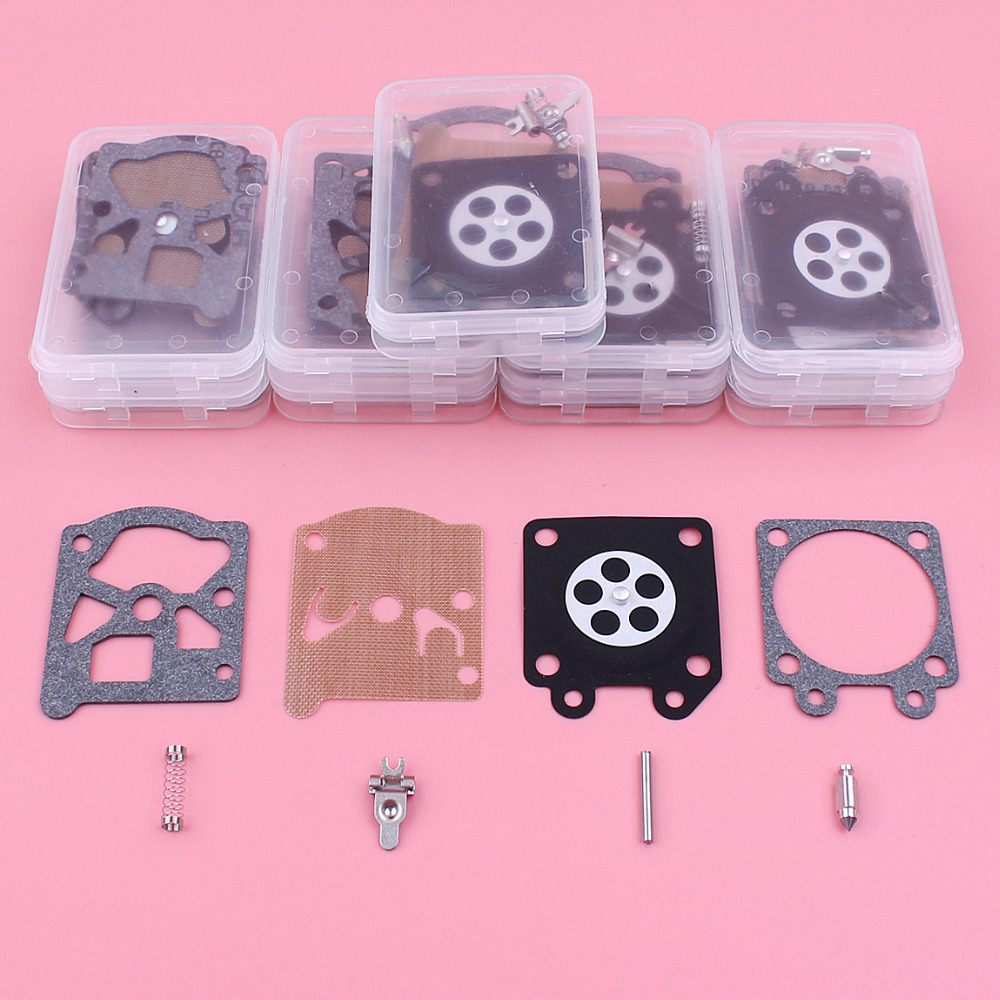 10pcs/lot Carburetor Repair Diaphragm Kit For Partner 350 351 370 371 420 Poulan 2150 2450 2500 Chainsaw Part Walbor 33 29 tool parts oil pump fits for part 350 351 352 370 371 390 391 chainsaw