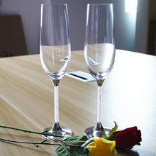 toasting wine glasses personal customed crystal drinking wine glasses for wedding champagne glasses/flutes birthday gifts