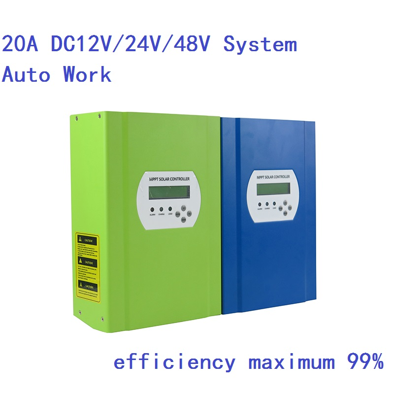 48V 20A MPPT solar charge controller 48V 20A PV Regulator 286W (12V)/ 572W (24V)/ 1144W (48V) 12v 24v 48v mppt pv solar charge controller 40a 60a for solar system