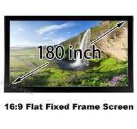 Easy Assemble Aluminum Frame 3D Projector Screens 180inch 3.98x2.24 Viewing Size For 4K Cinema