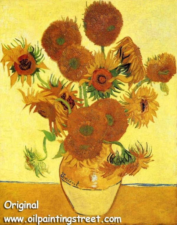 Oil Painting reproduction on linen canvas,Sun Flower by Vincent Van Gogh,Free DHL Shipping,100% handmade