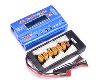 New iMAX B6 LCD Screen Digital RC Lipo NiMh Battery Balance Charger +B6AC Lipo Charging XT60 / T Plug Adaptor Board 2 6S