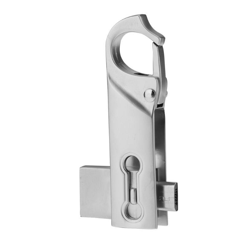 4/8/16Gb Metal USB Flash Drive USB2.0 OTG 2.0 Keychain Buckle Rotary Flash Memory Disk Stick Pendrive for Computer Smart Phone