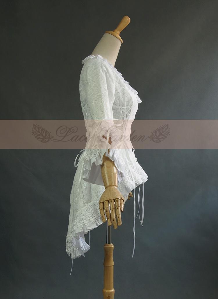 VANOVICH/Модная кружевная рубашка с расклешенными рукавами, с вырезом лодочкой, блузки и топы, женская летняя и весенняя Новинка 2019, женская оде... - 2