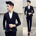 3pieces men suit top quality british style slim fit mens suits one button winter autumn wedding dress for men (Jacket+Pant+Vest)