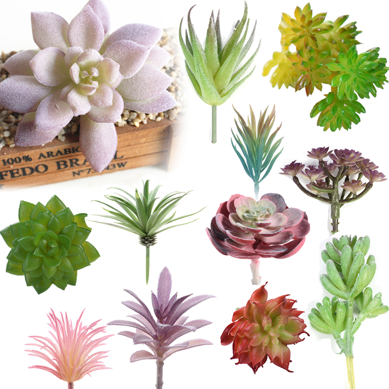 Artificial succulent real touch landscape lotus plants for Landscape arrangement